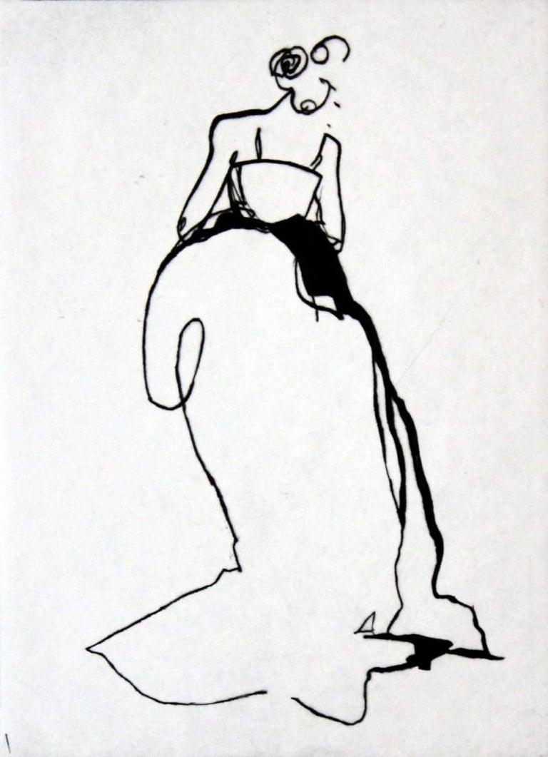 Anna Halarewicz Figurative Print - Ascetic - 21 Century, Etching, Fashion Print, Women, Minimalist