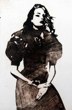 Fashion - XXI Century, Etching, Fashion Print, Woman, Female artist