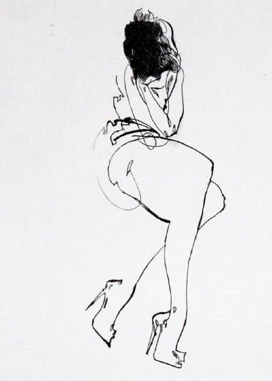 Anna Halarewicz Figurative Print - Pure, red & black - XXI Century, Etching, Fashion Print, Women
