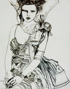 Tribute to Tim Walker - XXI Century, Contemporary Etching, Fashion Print, Women