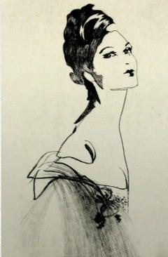 Untitled - XXI Century, Etching, Fashion Print, Women, Portrait