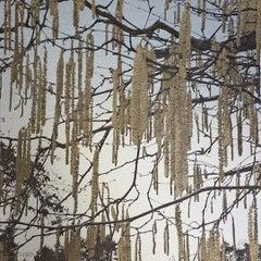 Anna Harley, Catkins Mini, Limited Edition Silkscreen Print, Affordable Art