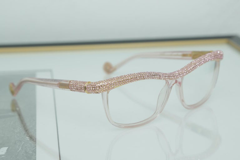 Anna-Karin Karlsson Pink Kiki On A String Glasses Sunglasses In Excellent Condition For Sale In West palm beach, FL
