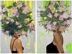 Always A Mystery/Heartbreaker Diptych_Anna Kincaide_Figurative + Abstract Floral