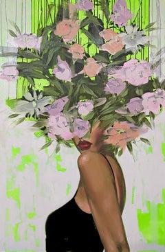 Always A Mystery_Anna Kincaide, Oil/Canvas_Female Figurative + Abstract Floral