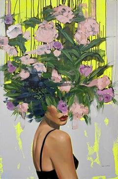 Heartbreaker_2021_Anna Kincaide, Oil/Canvas_Female Figurative + Abstract Florals