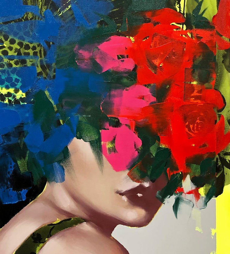 I Keep Remembering You, 2020, Anna Kincaide, Figurative/Female Portrait-Florals - Contemporary Painting by Anna Kincaide