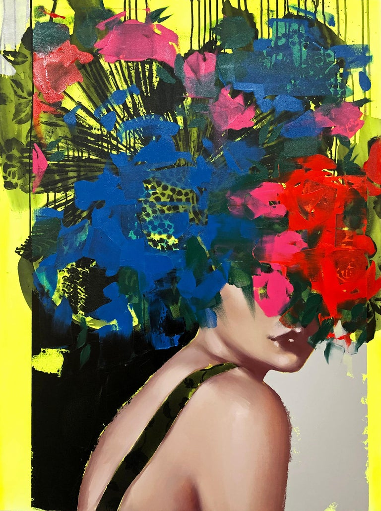 I Keep Remembering You, 2020, Anna Kincaide, Figurative/Female Portrait-Florals - Painting by Anna Kincaide