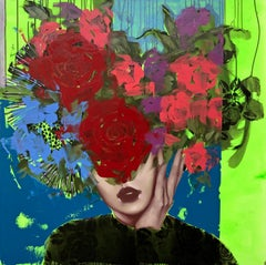 Running Often Through My Mind, Anna Kincaide, Figurative/Female Portrait-Floral