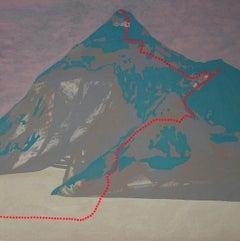 K2 - Mount Godwin-Austen, Contemporary Landscape, Modern Mountains Painting