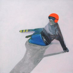 Untitled ( Ski Racer ) - Modern Contemporary Figurative Landscape Painting