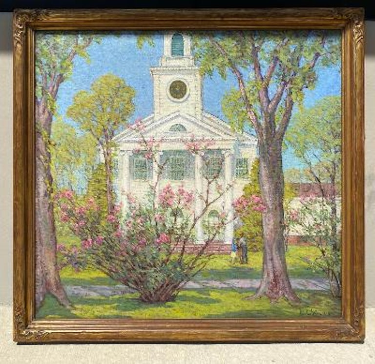 Anna Lee Stacey Original Painting of Old Lyme Congregational Church Connecticut  4