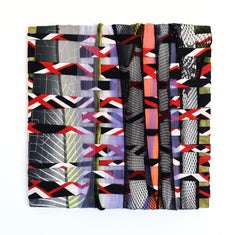 Irregular Pattern 5 (abstract textile fabric mixed media sustainable art design)