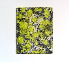 All over (abstract absinthe green painting texture contemporary organic bold)