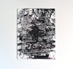 Imprint (abstract black and white painting texture contemporary organic bold)