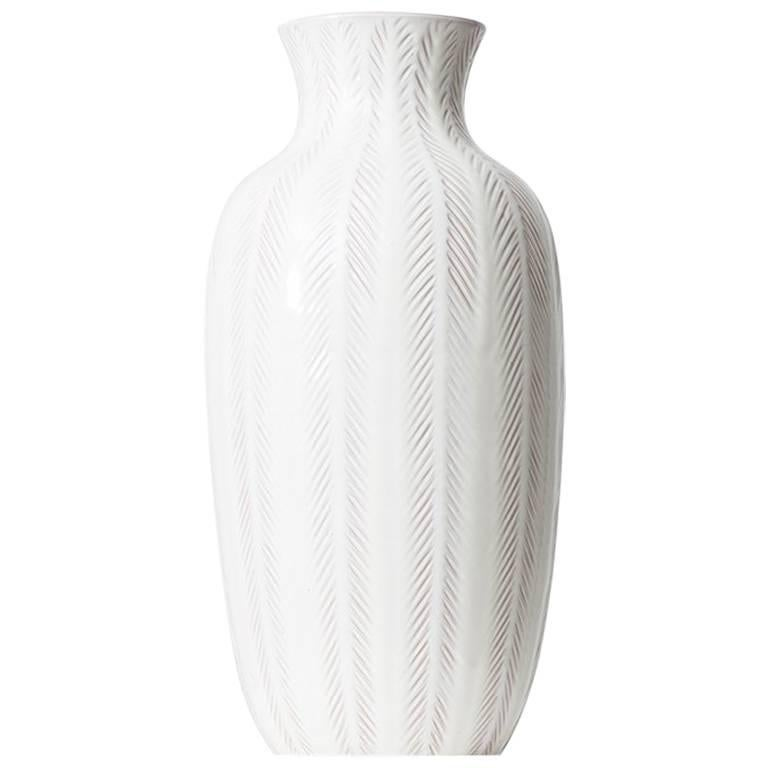 Anna Lisa Thomson Ceramic Floor Vase By Upsala Ekeby In Sweden For