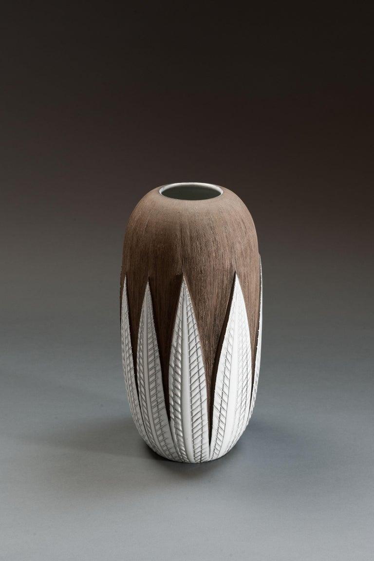 Anna-Lisa Thomson Ceramic 'Paprika' Vases (3) by Upsala Ekeby For Sale 4
