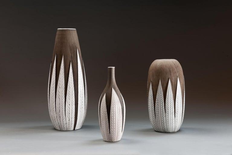 Anna-Lisa Thomson Ceramic 'Paprika' Vases (3) by Upsala Ekeby For Sale 12
