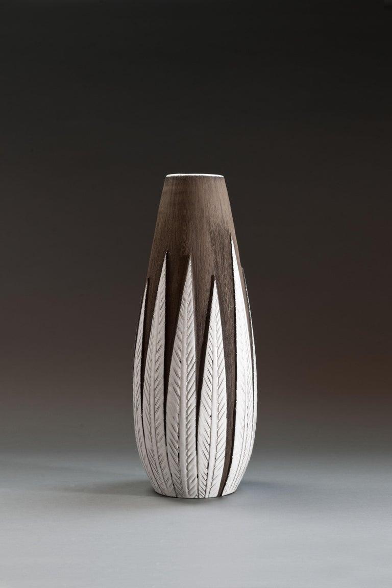 Mid-20th Century Anna-Lisa Thomson Ceramic 'Paprika' Vases (3) by Upsala Ekeby For Sale