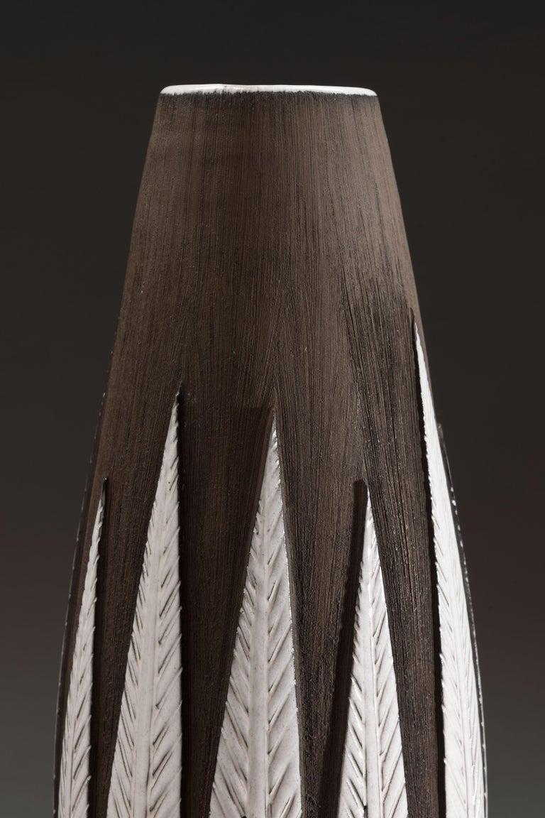 Anna-Lisa Thomson Ceramic 'Paprika' Vases (3) by Upsala Ekeby For Sale 1