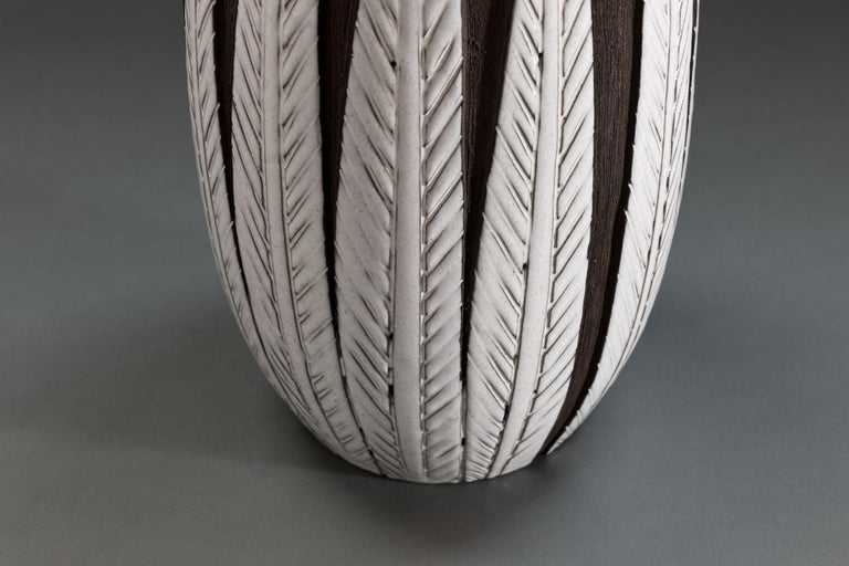 Anna-Lisa Thomson Ceramic 'Paprika' Vases (3) by Upsala Ekeby For Sale 2