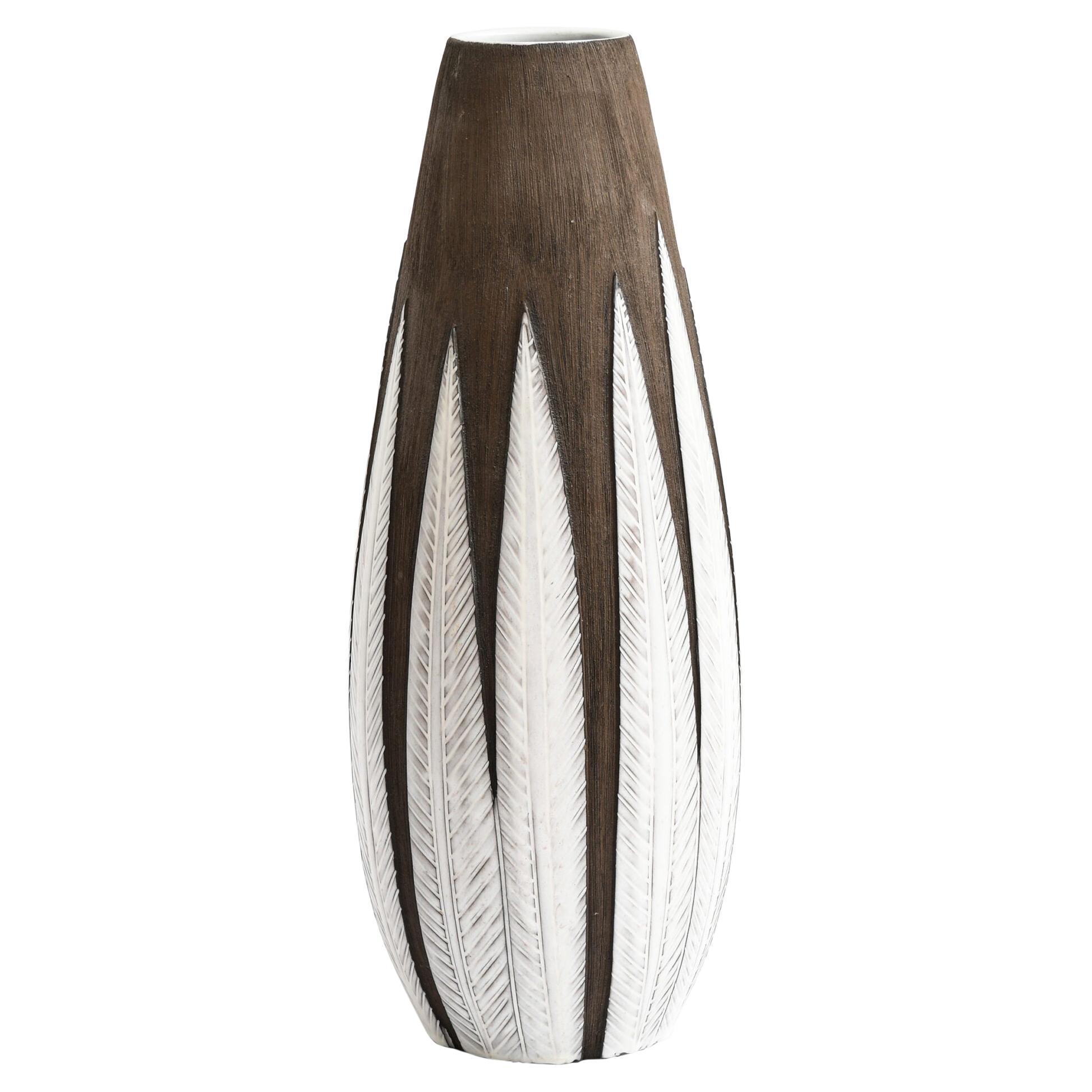 Anna-Lisa Thomson Floor Vase Model Paprika Produced by Upsala Ekeby in Sweden
