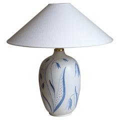 "Anna-Lisa Thomson, ""Flora"" Table Lamp, Stoneware, Upsala-Ekeby, Sweden, 1949"