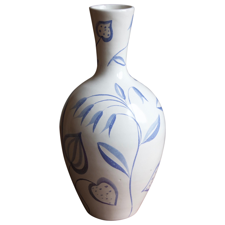 "Anna-Lisa Thomson, ""Flora"" Vase, Stoneware, Upsala-Ekeby, Sweden, 1949"