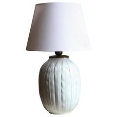Anna-Lisa Thomson, Large Table lamp, Glazed Stoneware, Upsala-Ekeby Sweden 1940s