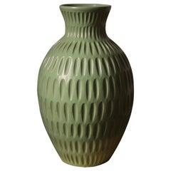 Anna-Lisa Thomson, Large Vase, Glazed Stoneware, Upsala-Ekeby Sweden, 1940s