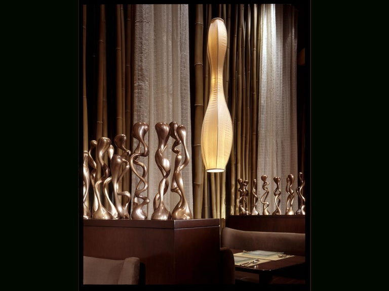 Anna Mae Candlesticks / Candleholders Cast Brushed Bronze, USA Jordan Mozer 2003 For Sale 5