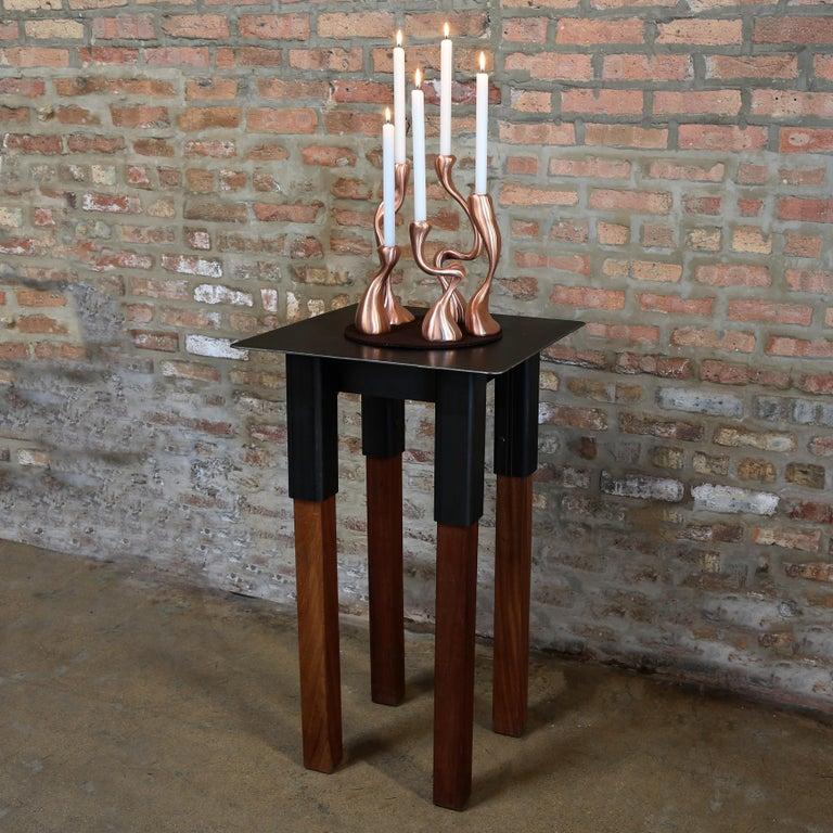 Anna Mae Candlesticks / Candleholders Cast Brushed Bronze, USA Jordan Mozer 2003 For Sale 3