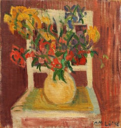Still Life of Wild Flowers (Woman Artist, Denmark, Danish, Modernism)