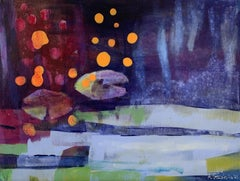 Fireflies - 21 Century, Contemporary Abstract, Colorful, Vibrant