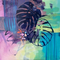 Inside-outside - 21 Century, Contemporary Abstract, Colorful, Vibrant
