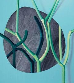 Anna Membrino, Pierco, oil and acrylic on canvas contemporary surrealist art