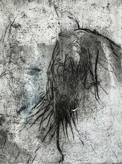A bird - Figurative & abstract print, Black and white, Animal