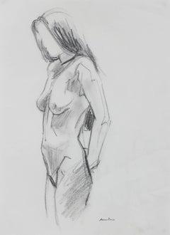 Female Figure Sketch in Graphite, Late 20th Century