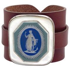 Anna Porcu 19th Century Unique Wedgewood Hope Cameo Bracelet