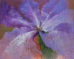 Purple Ripples, Painting, Oil on Canvas