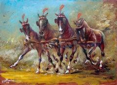 Quadriga, Painting, Oil on Canvas