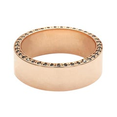 Anna Sheffield 14 Karat Gold and Black Diamond Virtue Wedding Band