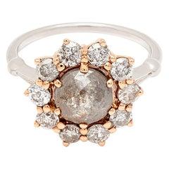 Anna Sheffield 1.43 Carat Grey Diamond Celestine Ring