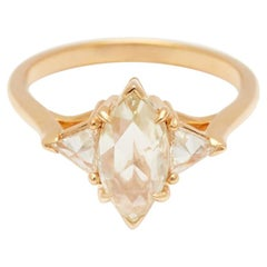 Anna Sheffield 14k Gold 1.00ct Champagne Diamond Marquise Bea Engagement Ring