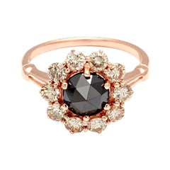 Anna Sheffield 14k Rose Gold, 0.95 Carat Black Diamond Celestine Engagement Ring