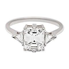 Anna Sheffield 1.80 F/VS1 Carat White Diamond Bea Three-Stone Ring