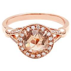 Anna Sheffield Carat Champagne Diamond Luna Ring