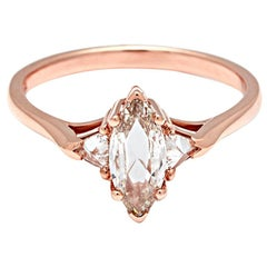 Anna Sheffield Carat Champagne Diamond Marquise Bea Ring