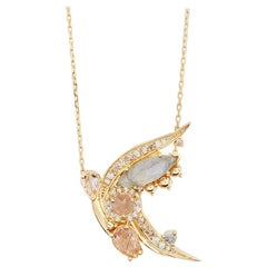 Anna Sheffield Morganite Butterfly Necklace