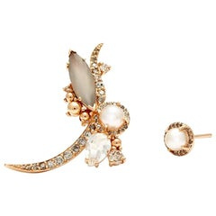 Anna Sheffield Pearl Butterfly Earring 'Right Half Pair'